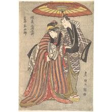 Utagawa Toyokuni I: Kabuki Actors: Bando Mitsugorô and Iwai Hanshirô - Metropolitan Museum of Art