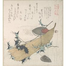 窪俊満: Objects Representing the Ceremony of Exorcising Demons, One of the New Year Performances - メトロポリタン美術館
