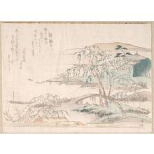 柳々居辰斎: Landscape with Willow Trees - メトロポリタン美術館