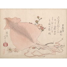 Teisai Hokuba: Dried Cuttle-Fish and Plum Blossoms - Metropolitan Museum of Art