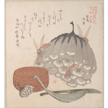 Kubo Shunman: Hives with Wasps, and a Box with a Spoon for Honey - Metropolitan Museum of Art