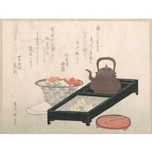 Kikugawa Eizan: Utensils for Tea and a Cake-Bowl - Metropolitan Museum of Art