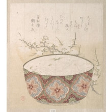 窪俊満: Bowl with White-Baits and Plum Blossoms - メトロポリタン美術館