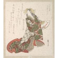 屋島岳亭: Courtesan Usugumo - メトロポリタン美術館