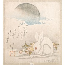 Shunkosai Hokushu: Moon; White Hare in Snow - Metropolitan Museum of Art