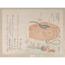 柳々居辰斎: Cloth Bag with Cords and Plum Blossoms - メトロポリタン美術館
