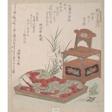 柳々居辰斎: Cabinet for the Toilet and Bedclothes - メトロポリタン美術館