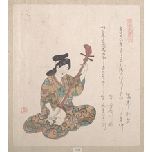 Kubo Shunman: Woman Playing on the Shamisen - Metropolitan Museum of Art