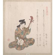 窪俊満: Woman Playing on the Shamisen - メトロポリタン美術館
