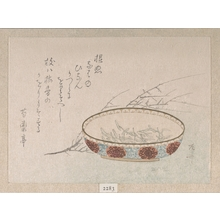 柳々居辰斎: Branch of Plum Blossoms and Bowl - メトロポリタン美術館