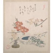 窪俊満: Peach Blossoms, a Seal and a Seal-box - メトロポリタン美術館
