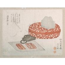 Kitao Shigemasa: Seals and a Pot for Seal Ink - Metropolitan Museum of Art