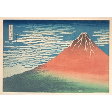 葛飾北斎: South Wind, Clear Sky (Gaifû kaisei), also known as Red Fuji, from the series Thirty-six Views of Mount Fuji (Fugaku sanjûrokkei) - メトロポリタン美術館