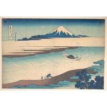 Katsushika Hokusai: Fuji—The Tama River, Musashi Province, from the series Thirty-six Views of Mount Fuji (Fugaku sanjûrokkei) - Metropolitan Museum of Art