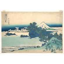 Katsushika Hokusai: Shichirigahama in Sagami Province (Sôshû Shichirigahama), from the series Thirty-six Views of Mount Fuji (Fugaku sanjûrokkei) - Metropolitan Museum of Art