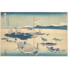 葛飾北斎: Tsukudajima in Musashi Province (Buyô Tsukudajima), from the series Thirty-six Views of Mount Fuji (Fugaku sanjûrokkei) - メトロポリタン美術館