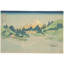 Katsushika Hokusai: Reflection in Lake at Misaka in Kai Province (Kôshû Misaka suimen), from the series Thirty-six Views of Mount Fuji (Fugaku sanjûrokkei) - Metropolitan Museum of Art
