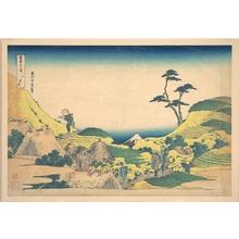 Katsushika Hokusai: Lower Meguro (Shimo Meguro), from the series Thirty-six Views of Mount Fuji (Fugaku sanjûrokkei) - Metropolitan Museum of Art