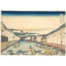 葛飾北斎: Nihonbashi in Edo (Edo Nihonbashi), from the series Thirty-six Views of Mount Fuji (Fugaku sanjûrokkei) - メトロポリタン美術館