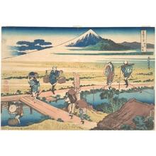 葛飾北斎: Nakahara in Sagami Province (Sôshû Nakahara), from the series Thirty-six Views of Mount Fuji (Fugaku sanjûrokkei) - メトロポリタン美術館