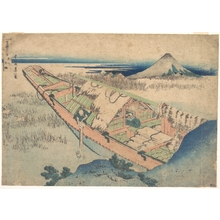 Katsushika Hokusai: Ushibori in Hitachi Province (Jôshû Ushibori), from the series Thirty-six Views of Mount Fuji (Fugaku sanjûrokkei) - Metropolitan Museum of Art