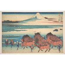 葛飾北斎: The New Fields at Ôno in Suruga Province (Sunshû Ôno shinden), from the series Thirty-six Views of Mount Fuji (Fugaku sanjûrokkei) - メトロポリタン美術館