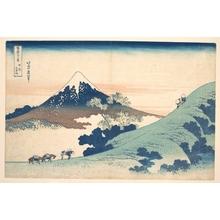 葛飾北斎: Fuji from Inume (?) Pass - メトロポリタン美術館