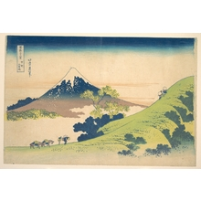 Katsushika Hokusai: The Inume Pass in Kai Province (Kôshû Inume tôge), from the series Thirty-six Views of Mount Fuji (Fugaku sanjûrokkei) - Metropolitan Museum of Art