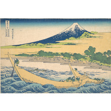 葛飾北斎: Tago Bay near Ejiri on the Tôkaidô (Tôkaidô Ejiri Tago no ura ryaku zu), from the series Thirty-six Views of Mount Fuji (Fugaku sanjûrokkei) - メトロポリタン美術館
