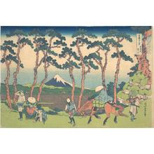 葛飾北斎: Hodogaya on the Tôkaidô (Tôkaidô Hodogaya), from the series Thirty-six Views of Mount Fuji (Fugaku sanjûrokkei) - メトロポリタン美術館