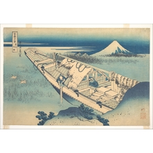 葛飾北斎: Ushibori in Hitachi Province (Jôshû Ushibori), from the series Thirty-six Views of Mount Fuji (Fugaku sanjûrokkei) - メトロポリタン美術館
