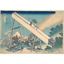 Katsushika Hokusai: In the Mountains of Tôtomi Province (Tôtomi sanchû), from the series Thirty-six Views of Mount Fuji (Fugaku sanjûrokkei) - Metropolitan Museum of Art