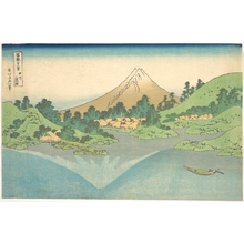 葛飾北斎: Reflection in Lake at Misaka in Kai Province (Kôshû Misaka suimen), from the series Thirty-six Views of Mount Fuji (Fugaku sanjûrokkei - メトロポリタン美術館