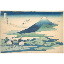 Katsushika Hokusai: Umezawa Manor in Sagami Province (Sôshû Umezawa zai), from the series Thirty-six Views of Mount Fuji (Fugaku sanjûrokkei) - Metropolitan Museum of Art