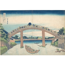 Katsushika Hokusai: Under the Mannen Bridge at Fukagawa (Fukagawa Mannenbashi shita), from the series Thirty-six Views of Mount Fuji (Fugaku sanjûrokkei) - Metropolitan Museum of Art