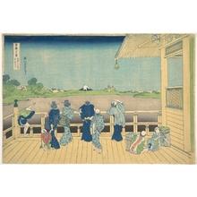 葛飾北斎: Sazai Hall at the Temple of the Five Hundred Arhats (Gohyaku Rakanji Sazaidô), from the series Thirty-six Views of Mount Fuji (Fugaku sanjûrokkei) - メトロポリタン美術館
