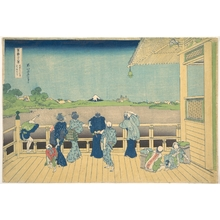 Katsushika Hokusai: Sazai Hall at the Temple of the Five Hundred Arhats (Gohyaku Rakanji Sazaidô), from the series Thirty-six Views of Mount Fuji (Fugaku sanjûrokkei) - Metropolitan Museum of Art