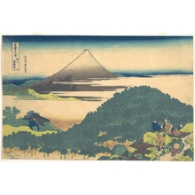Katsushika Hokusai: Cushion Pine at Aoyama (Aoyama enza no matsu), from the series Thirty-six Views of Mount Fuji (Fugaku sanjûrokkei) - Metropolitan Museum of Art
