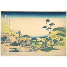 Katsushika Hokusai: Lower Meguro (Shimo Meguro), from the series Thirty-six Views of Mount Fuji (Fugaku sanjûrokkei) - Metropolitan Museum of Art