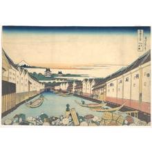 Katsushika Hokusai: Nihonbashi in Edo (Edo Nihonbashi), from the series Thirty-six Views of Mount Fuji (Fugaku sanjûrokkei) - Metropolitan Museum of Art