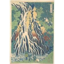 葛飾北斎: Kirifuri Waterfall at Kurokami Mountain in Shimotsuke (Shimotsuke Kurokamiyama Kirifuri no taki), from the series A Tour of Waterfalls in Various Provinces (Shokoku taki meguri) - メトロポリタン美術館