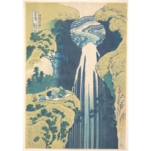Katsushika Hokusai: The Amida Falls in the Far Reaches of the Kisokaidô Road (Kisoji no oku Amida-ga-taki), from the series A Tour of Waterfalls in Various Provinces (Shokoku taki meguri) - Metropolitan Museum of Art