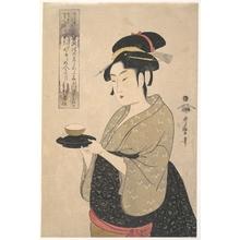 喜多川歌麿: Okita of the Naniwa-ya Tea-house - メトロポリタン美術館