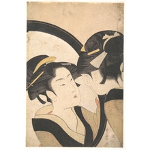 Kitagawa Utamaro: Naniwa Okita Admiring Herself in a Mirror - Metropolitan Museum of Art