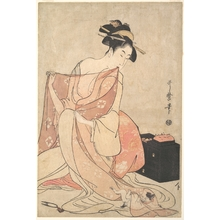 Kitagawa Utamaro: A Woman and a Cat - Metropolitan Museum of Art