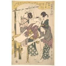喜多川歌麿: The Making of Silk Floss - メトロポリタン美術館