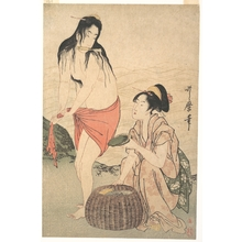 喜多川歌麿: The Awabi Fishers - メトロポリタン美術館