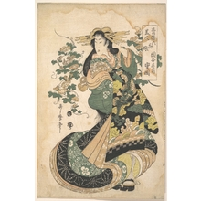 Utamaro II: A Courtesan with Morning-glories on the Background - メトロポリタン美術館