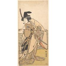 勝川春好: The Second Yamashita Kinsaku in the Role of Onna Kusunoki - メトロポリタン美術館