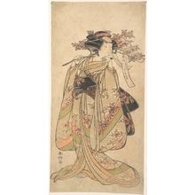 Katsukawa Shunko: The First Nakamura Tomijuro as a Woman Walking Toward the Left - Metropolitan Museum of Art